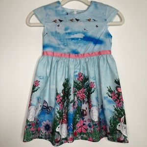 Belle Maison blue dress with bunnies Euro size 120